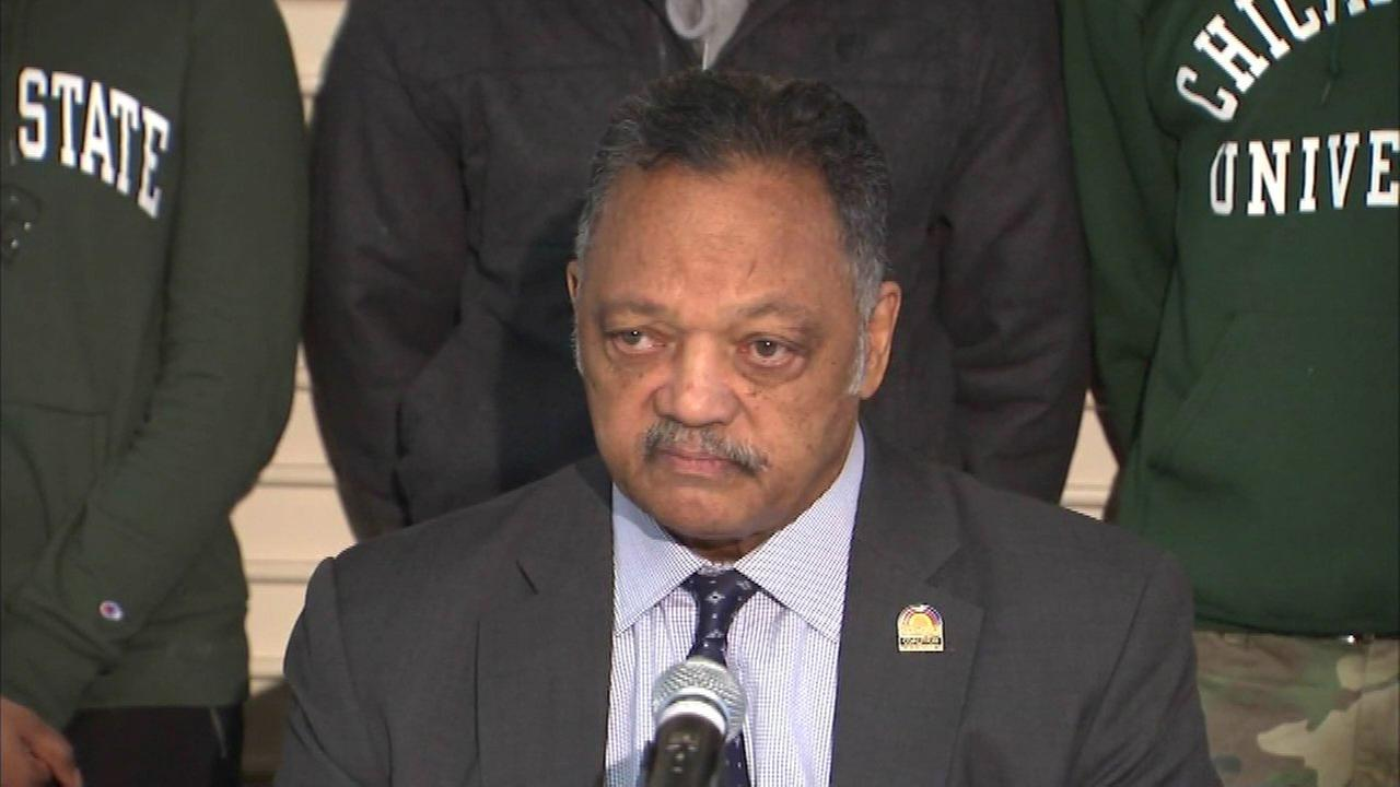 Rev. Jesse Jackson joins Chicago State students in funding rally