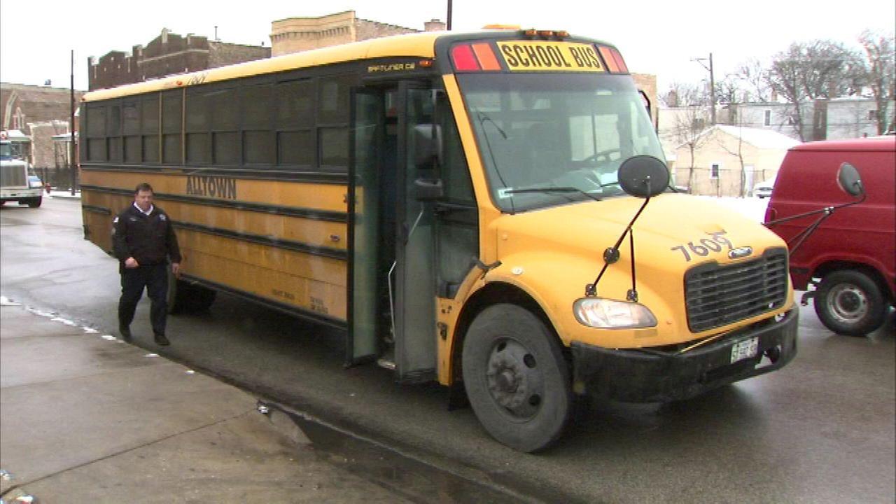 9 taken to hospitals after West Side school bus crash