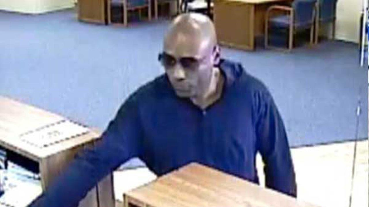 Surveillance images of the suspect in a bank robbery Tuesday in Carol Stream. | FBI