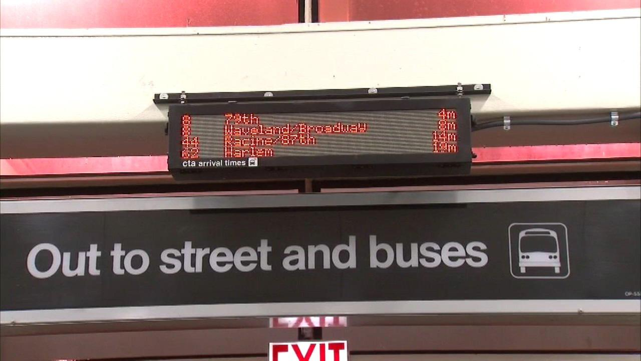 CTA installs bus tracker displays on 51 'L' platforms