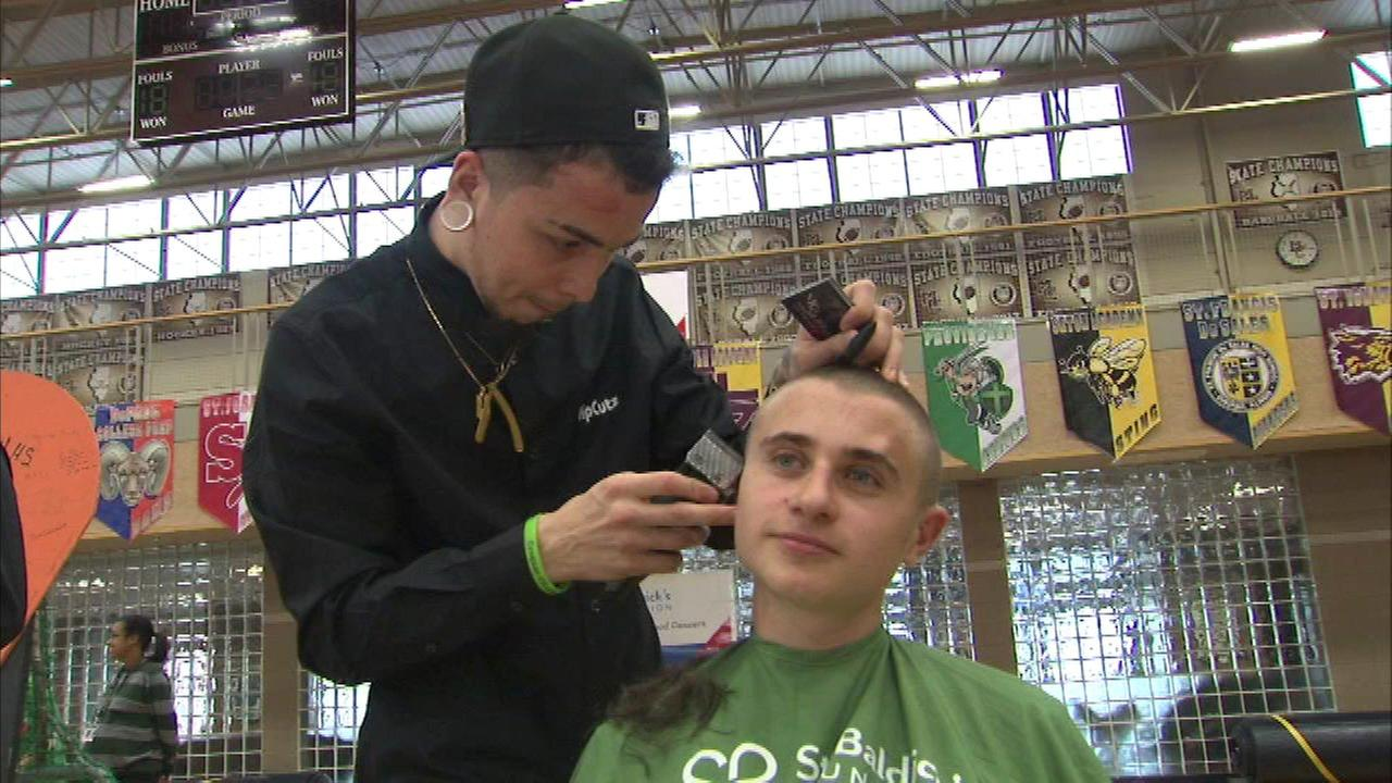 Mt. Carmel students shave heads for St. Baldrick's; event honors 2 kids, teacher
