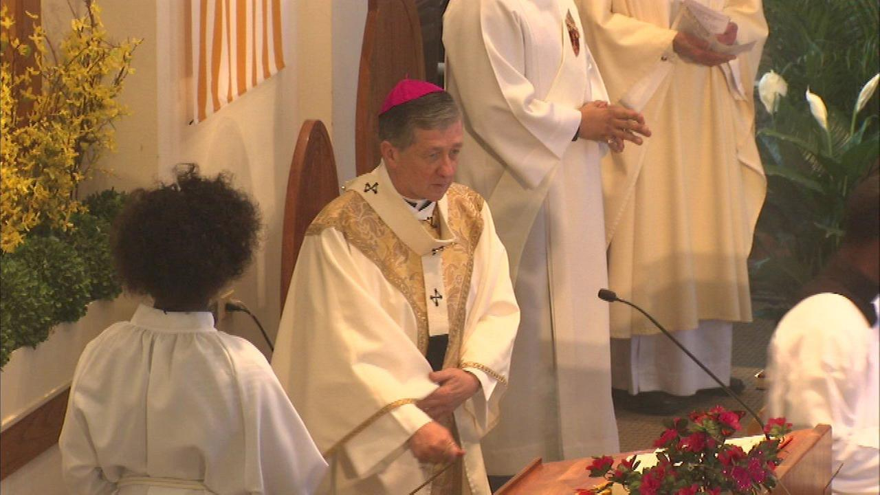 Archbishop Blase Cupich celebrated Easter Mass at Saint Ailbe Parish on the South Side.