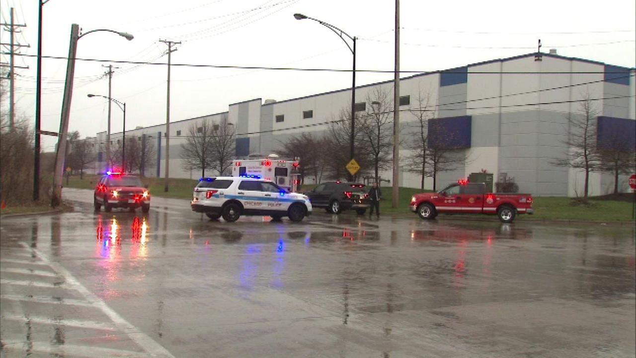 The Chicago Fire Dept. said 500 gallons of sulfuric acid spilled at a building in the 12200-block of S. Carondolet.