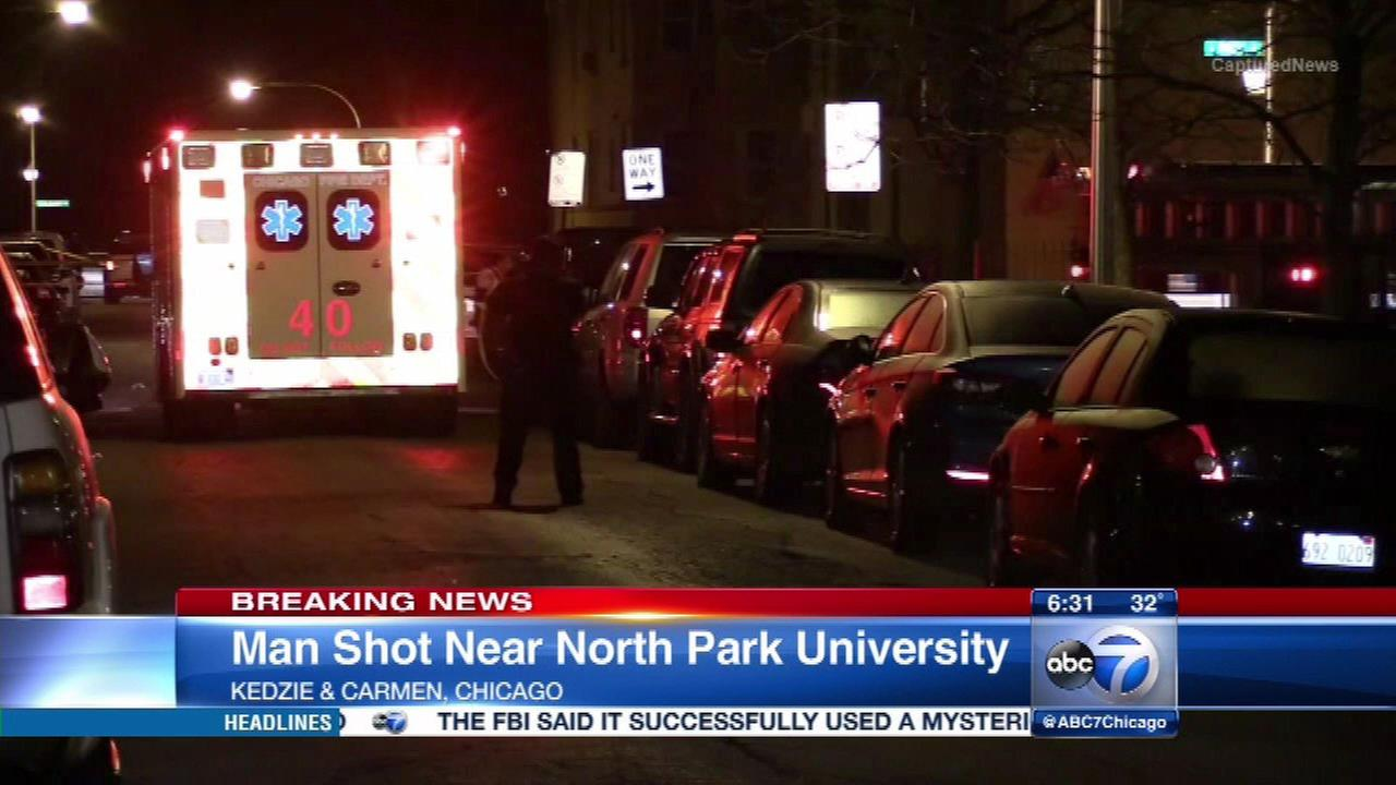 Man shot near North Park University