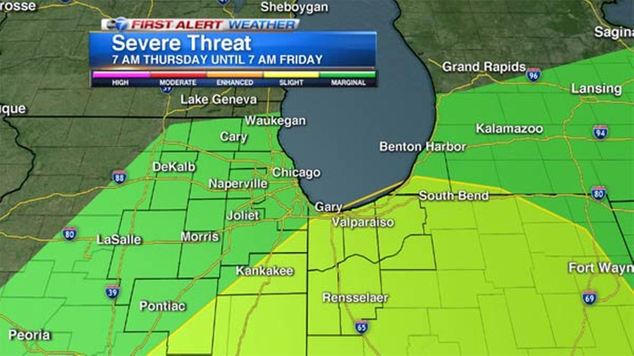 Chicago Weather: Severe storms could strike west, southeast of city