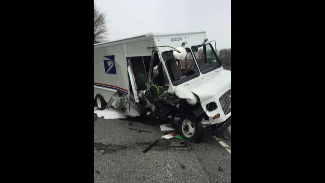 3 postal vehicles involved in crash in LaPorte County