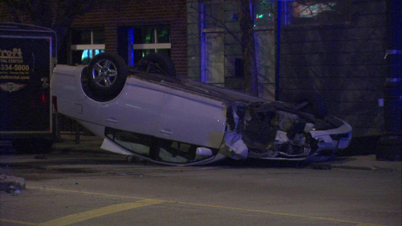 2 women critically injured after car flips on Near West Side