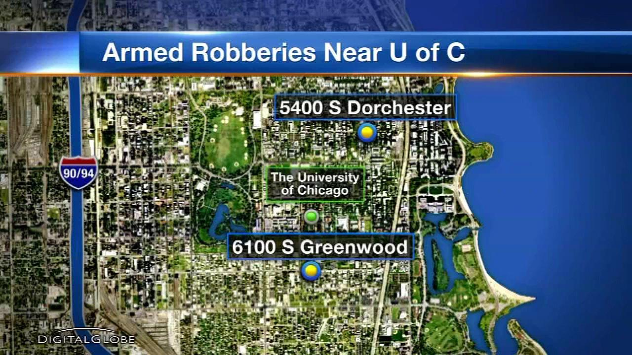 University of Chicago on alert following armed robberies near campus