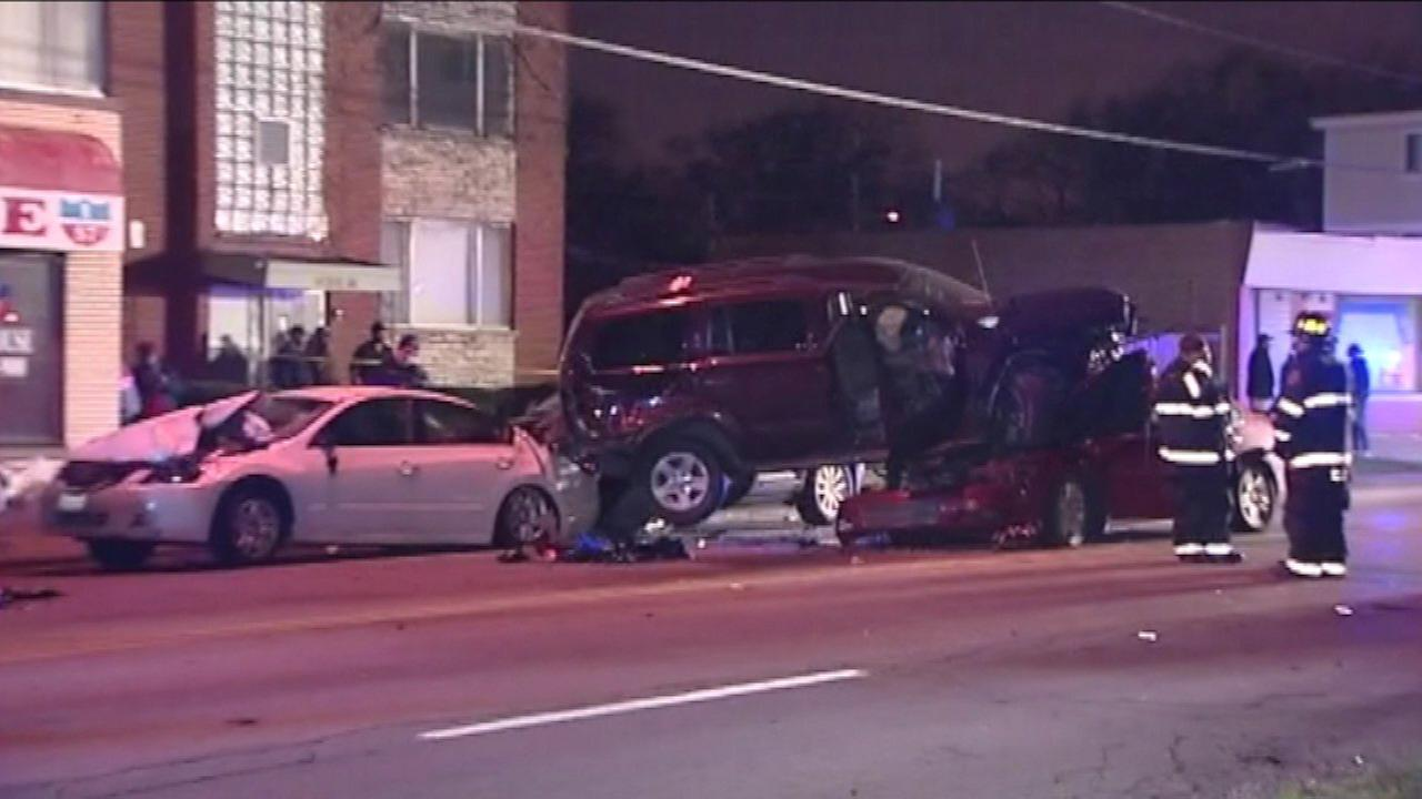 Six vehicles were involved in a crash in south suburban Riverdale Thursday.