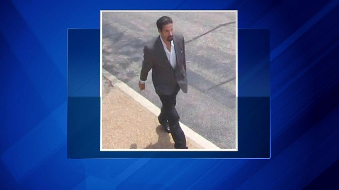 The FBI released this surveillance picture of the suspect in the Glenview robbery last July.