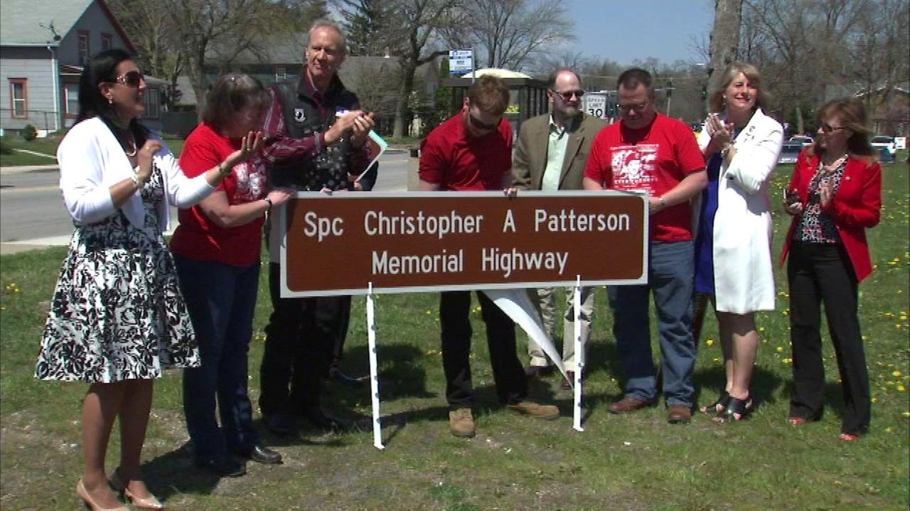Highwayin North Aurora named in honor of fallen soldier
