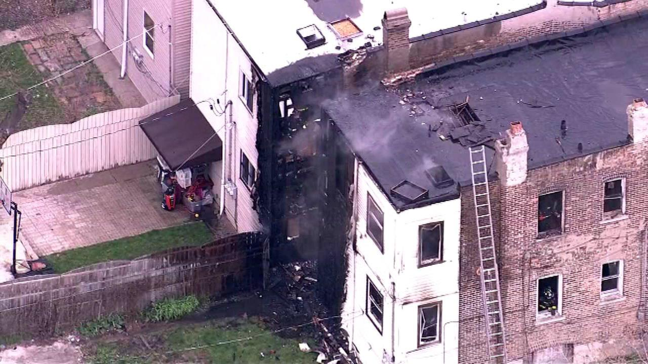 Fire spreads from one home to another in East Garfield Park
