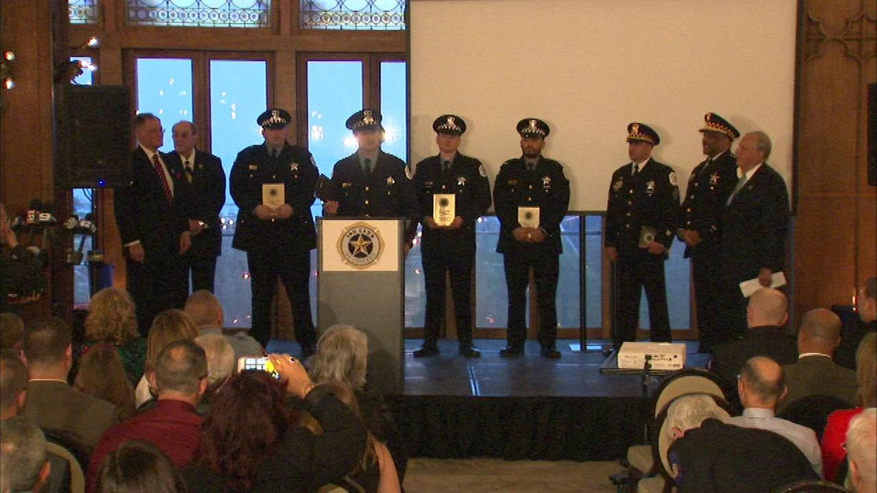 The 36th annual Valor Awards were held Tuesday evening to honor Chicago area police officers and firefighters who went above the call of duty.