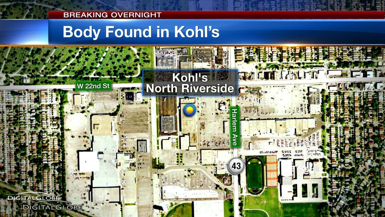 Man found dead at North Riverside Kohl's