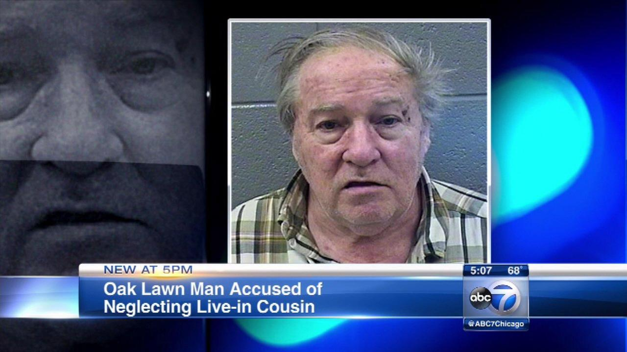 Man accused of neglecting elderly live-in cousin