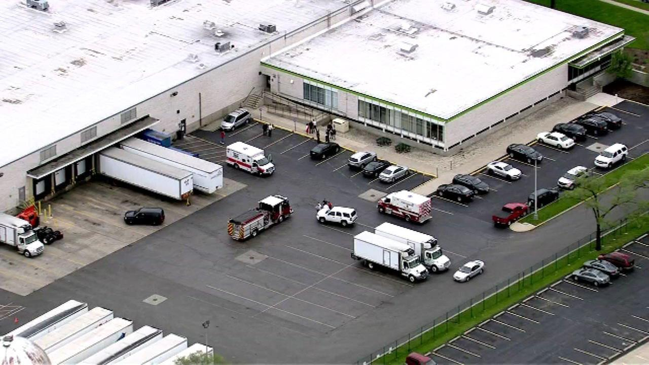 Emergency crews were called to the scene at Preferred Meal Systems Berkeley, which prepares school meals, on Friday afternoon.