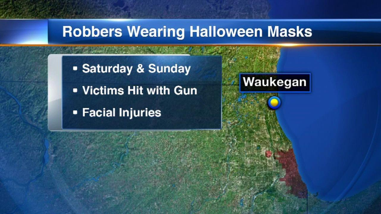 Waukegan police searching for armed robbers wearing Halloween masks