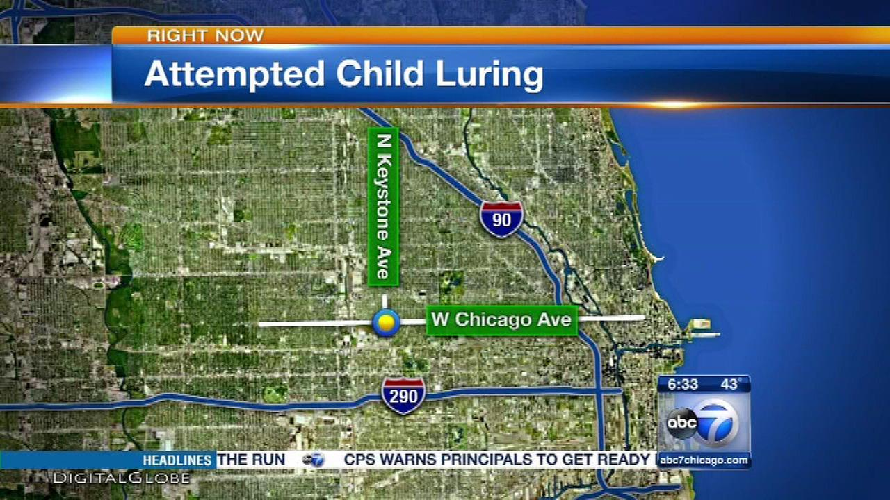 Man tries to lure girls, 13 and 15, into van on West Side