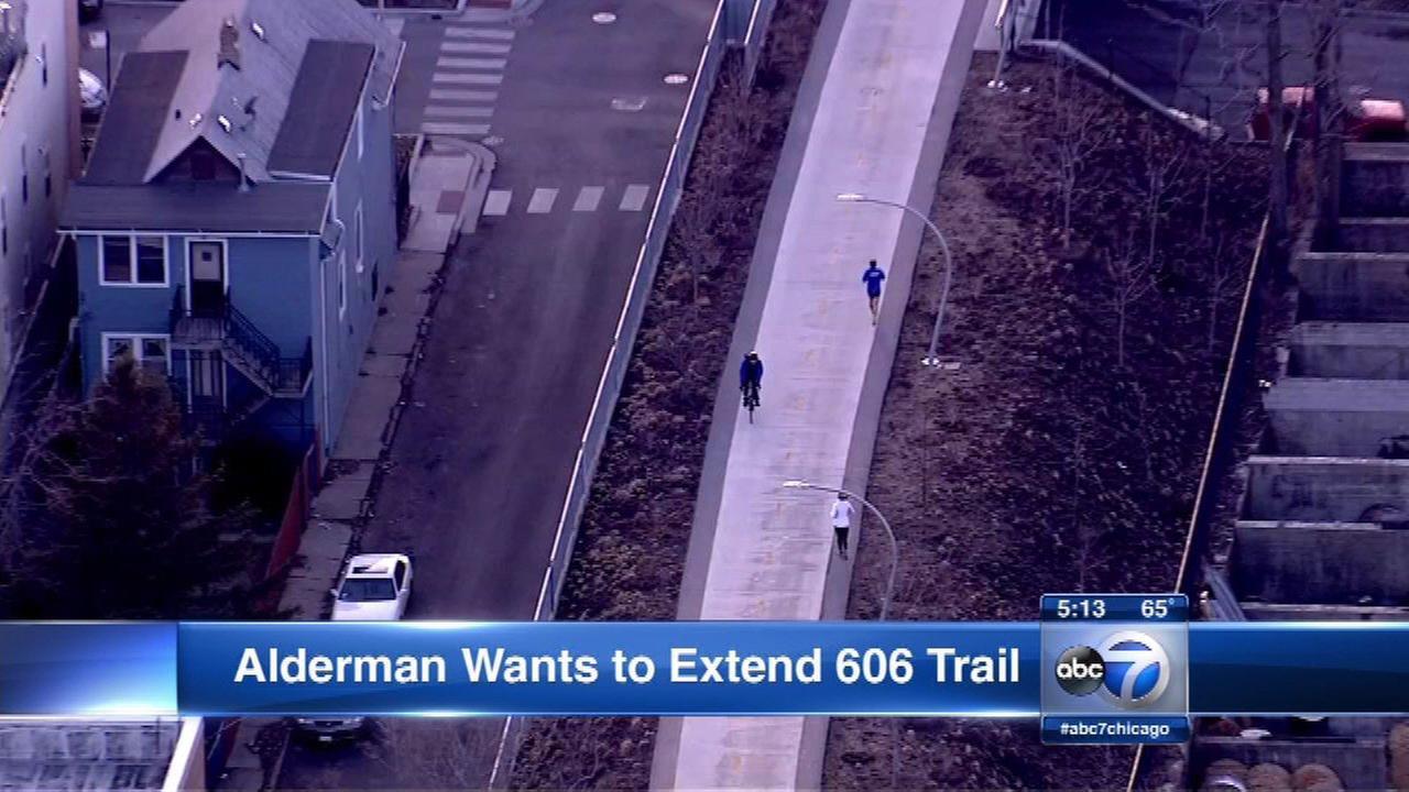 Alderman wants to extend 606 Trail