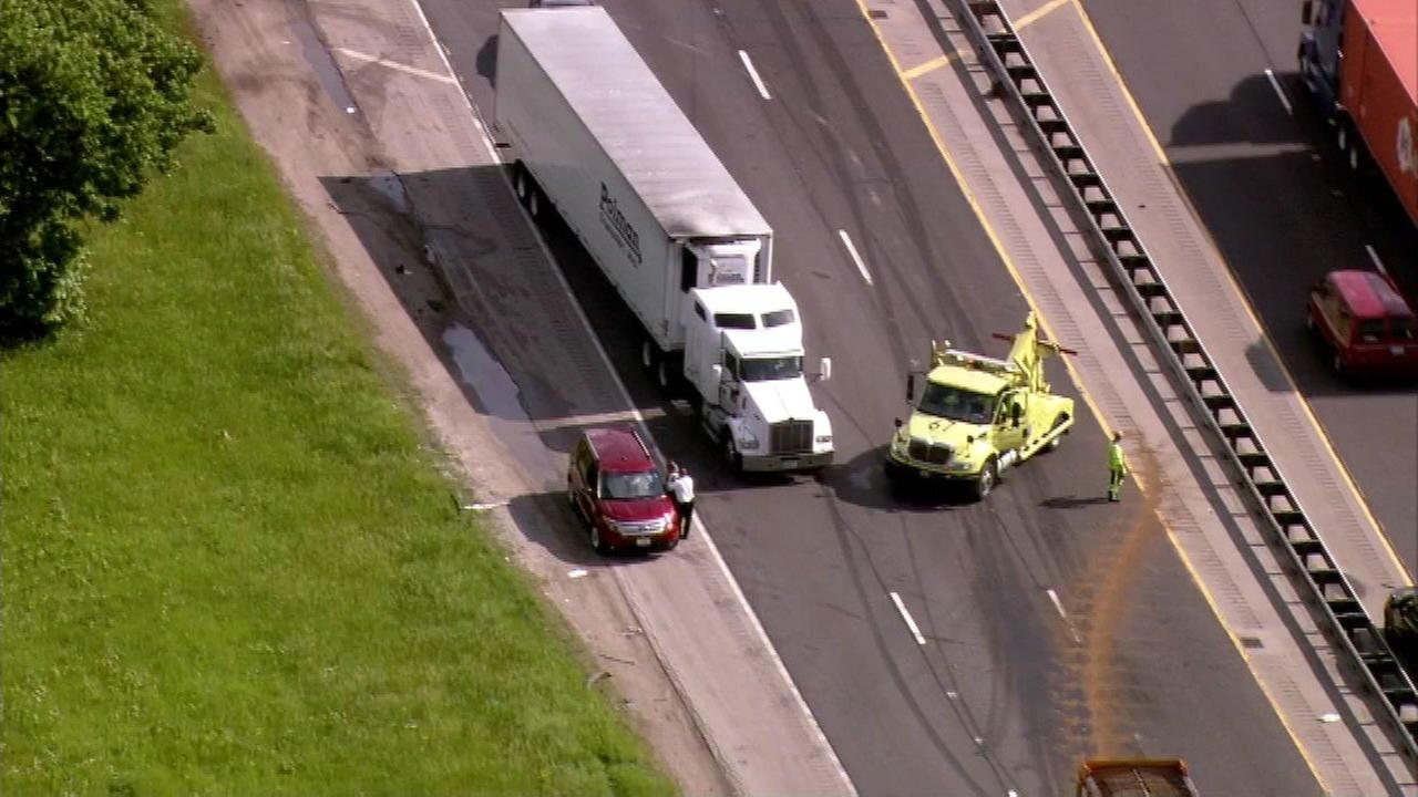 Jackknifed semi jams traffic along I-94 in south suburbs