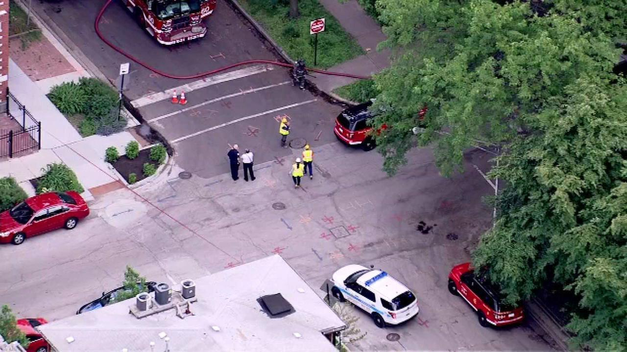 Construction crew hits gas main while working in Hyde Park