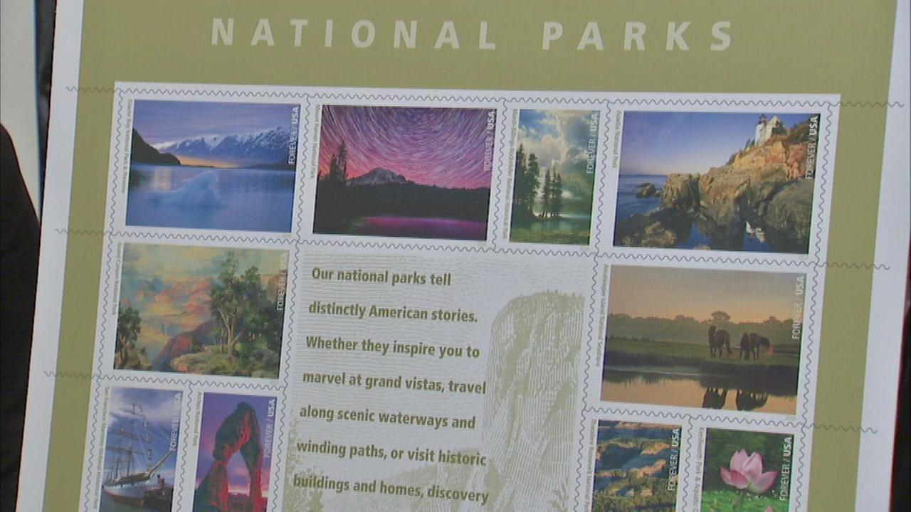 The Chicago Post Office helped unveil a sheet of stamps recognizing the National Park Services 100th anniversary.