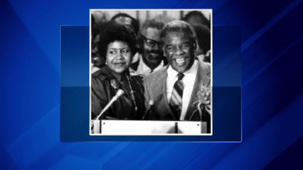 Mary Ella Smith and former Chicago Mayor Harold Washington.