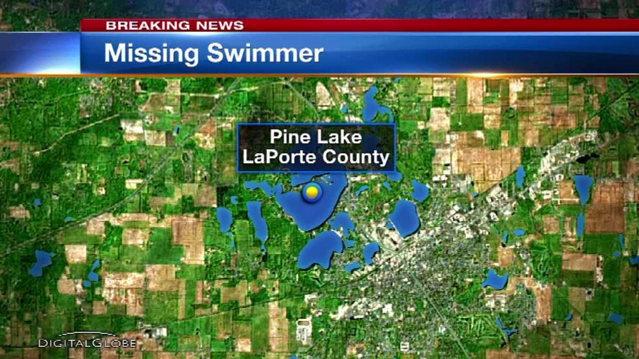 Search underway for missing swimmer in LaPorte County lake