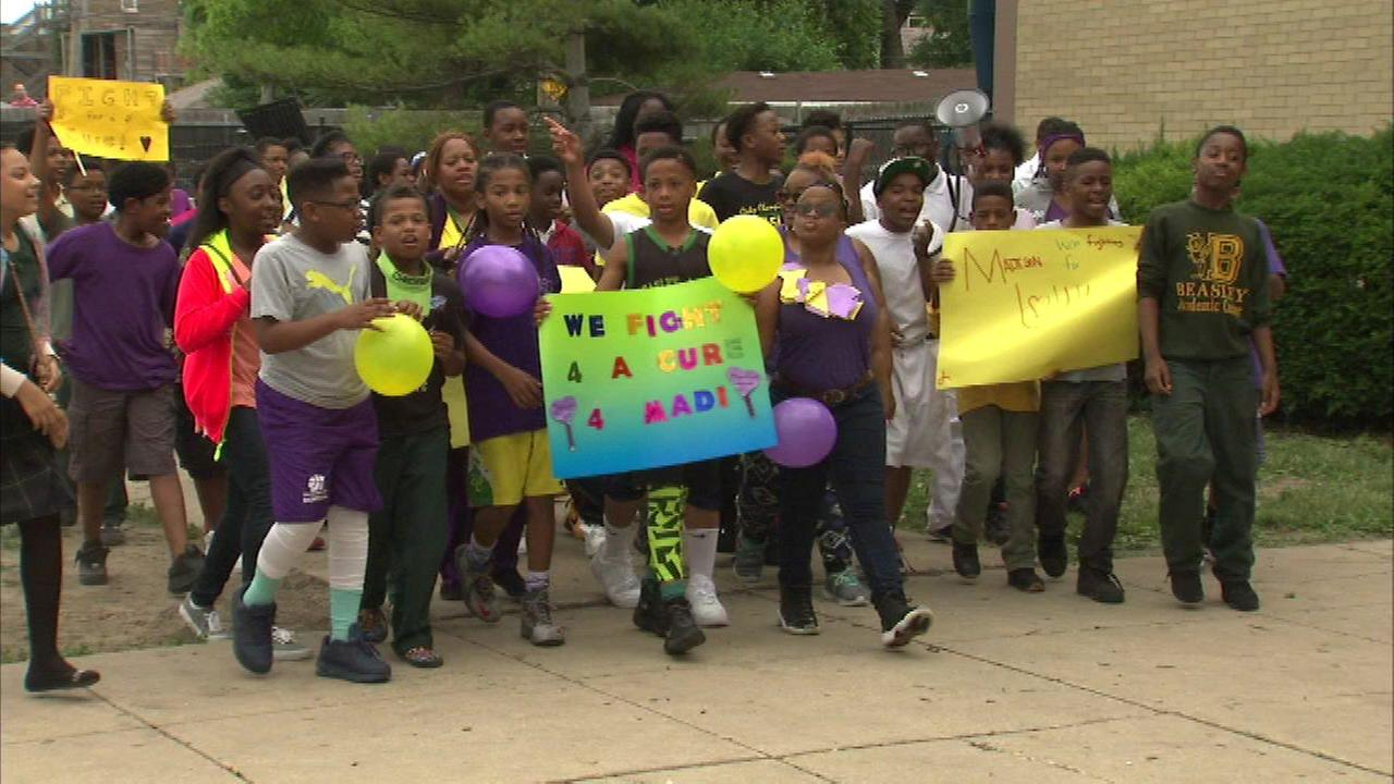 South Side students stage walk-a-thon for classmate fighting cancer