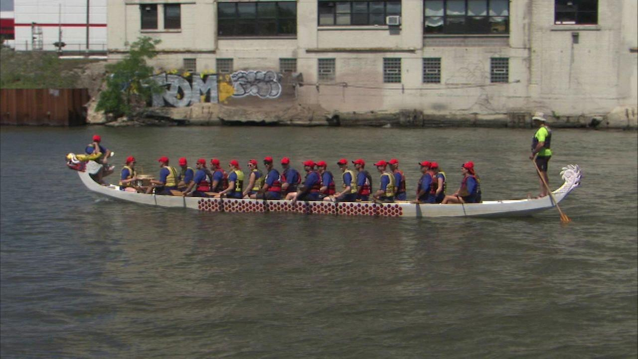 Annual Dragon Boat Race held in Chinatown