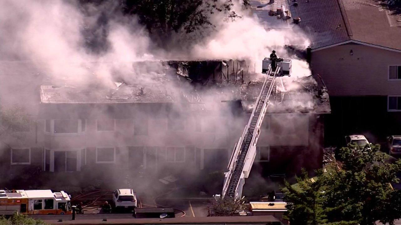 Woodridge apartment fire displaces 7 families