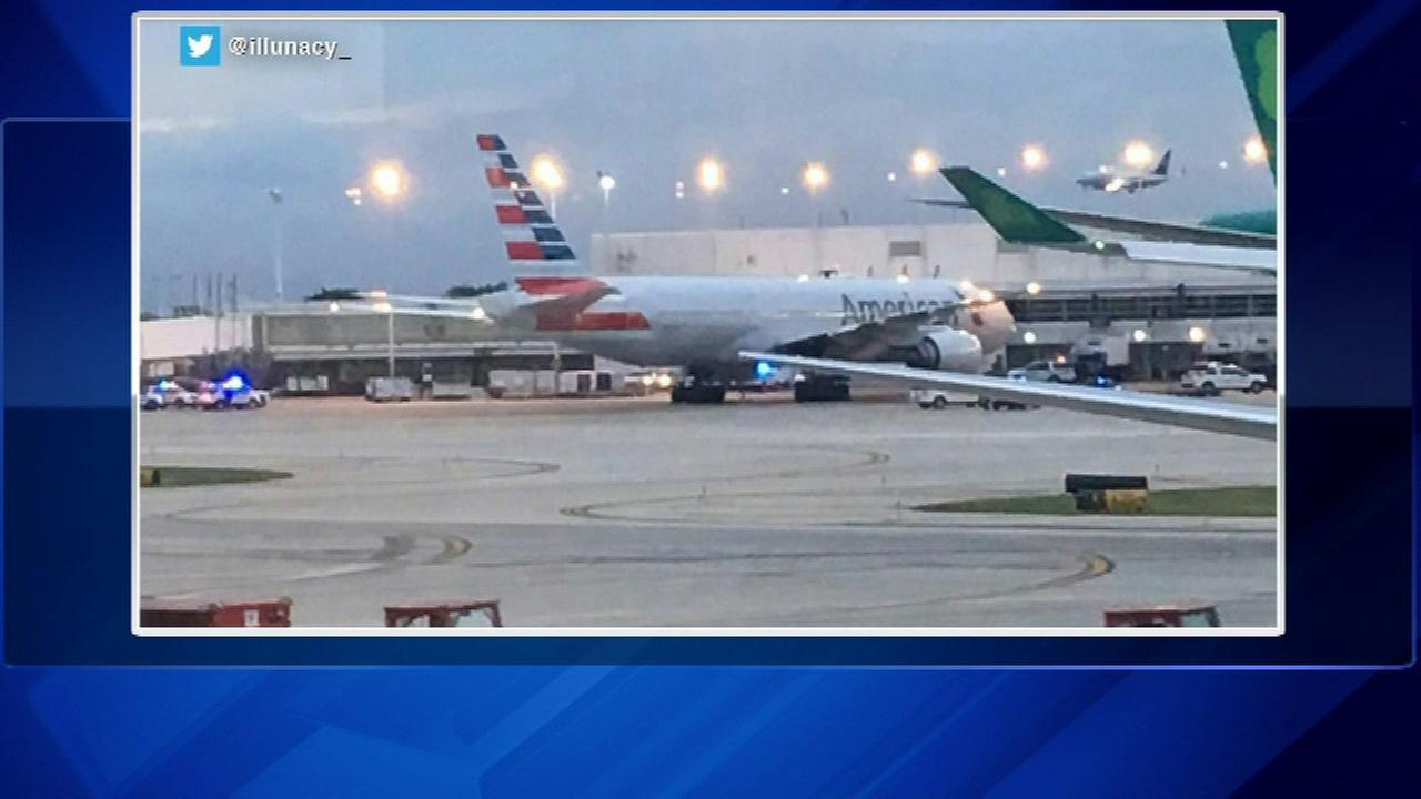 Police sweep American Airlines plane at O'Hare after non-credible threat