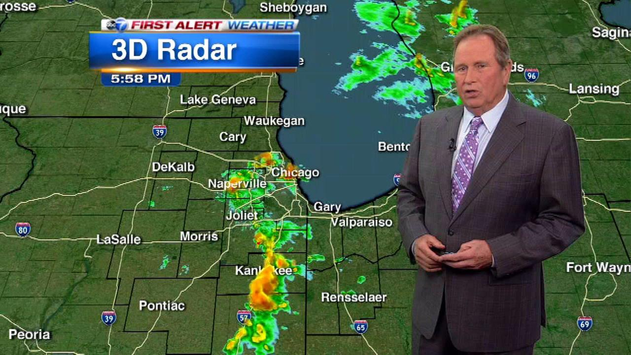 Chicago Weather: Heavy rain, lightning possible but severe storms unlikely