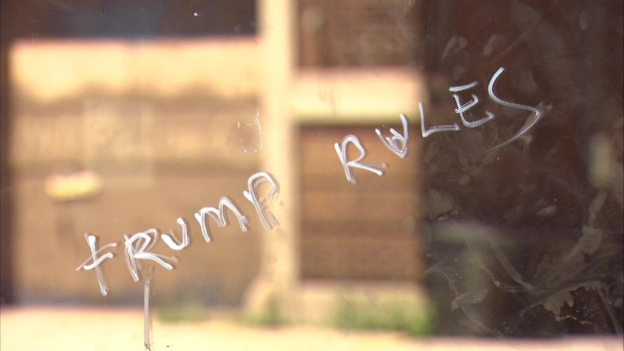 Pilsen church vandalized with racist graffiti