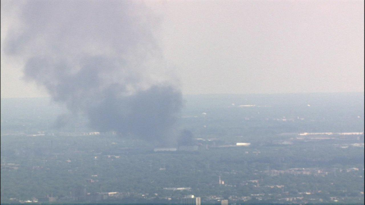 Fire at a scrap yard on East 106th Street on Chicagos Southeast Side.