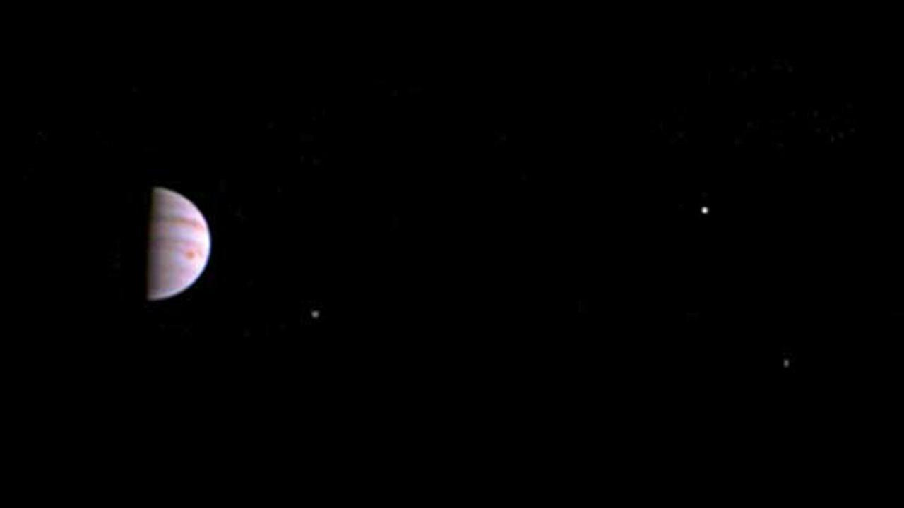 This July 10, 2016, image released by NASA was taken by the Juno spacecraft, five days after it arrived at Jupiter.