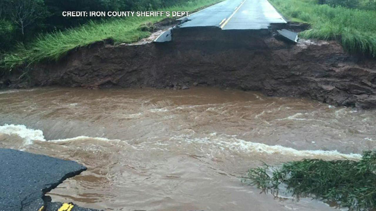 Suburban man dies in northern Wisconsin after flooding