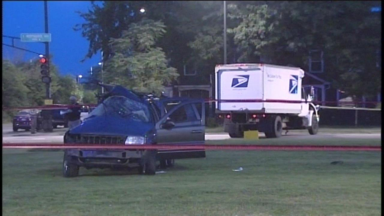 Postal truck accident