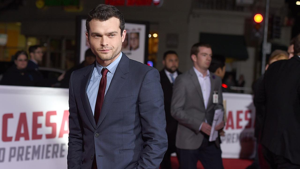 Alden Ehrenreich arrives at the world premiere of Hail, Caesar!