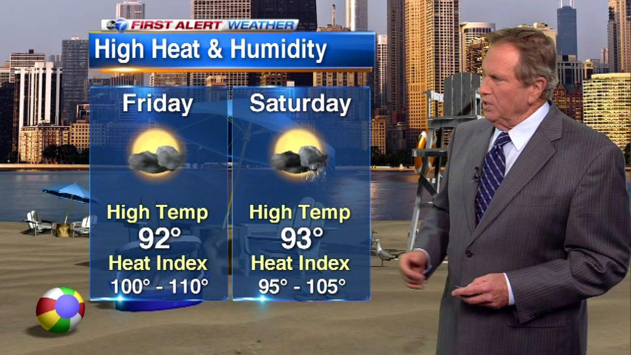 Chicago Weather: Excessive Heat Warning in effect; cooling centers open