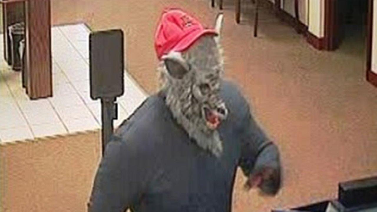 Man wearing wolf mask robs DeKalb bank