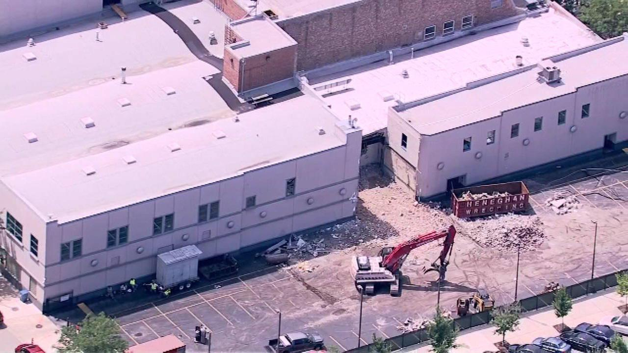 Demolition begins at Harpo Studio
