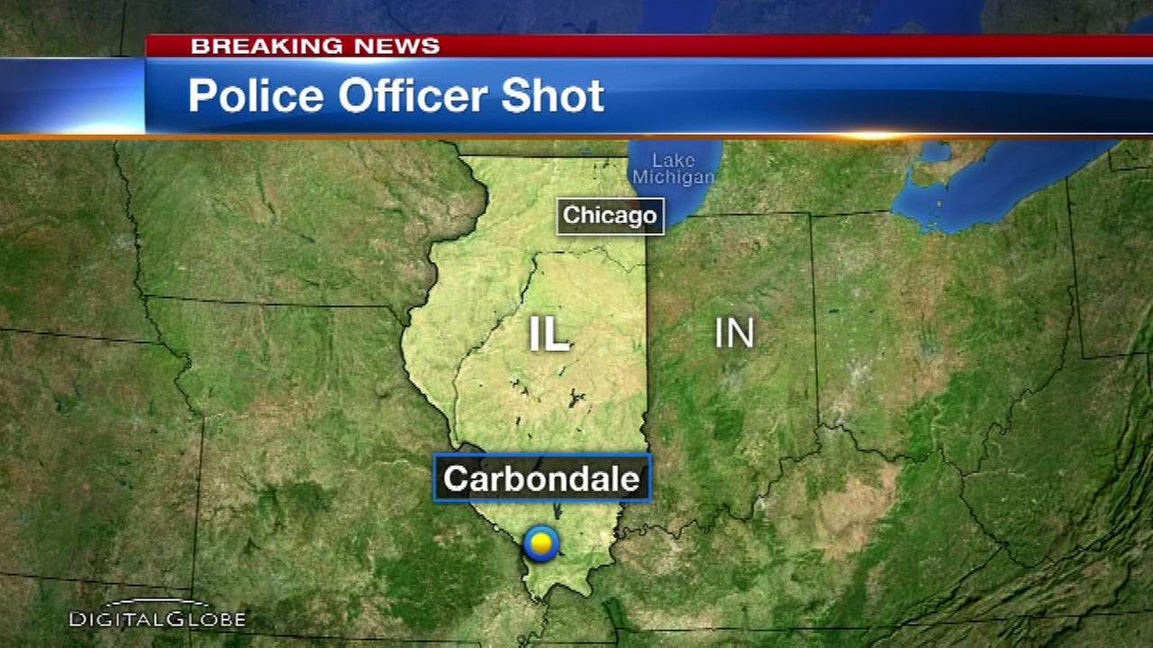 Police officer wounded while on patrol in Carbondale