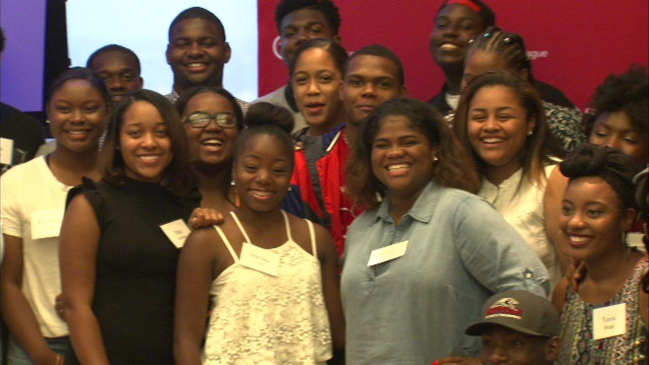 College-bound students surprised with trunks filled with college necessities
