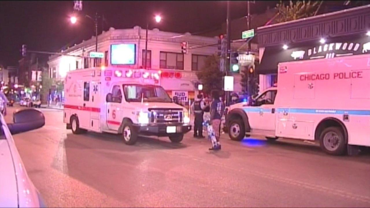 2 shot near CTA Belmont stop in Lakeview