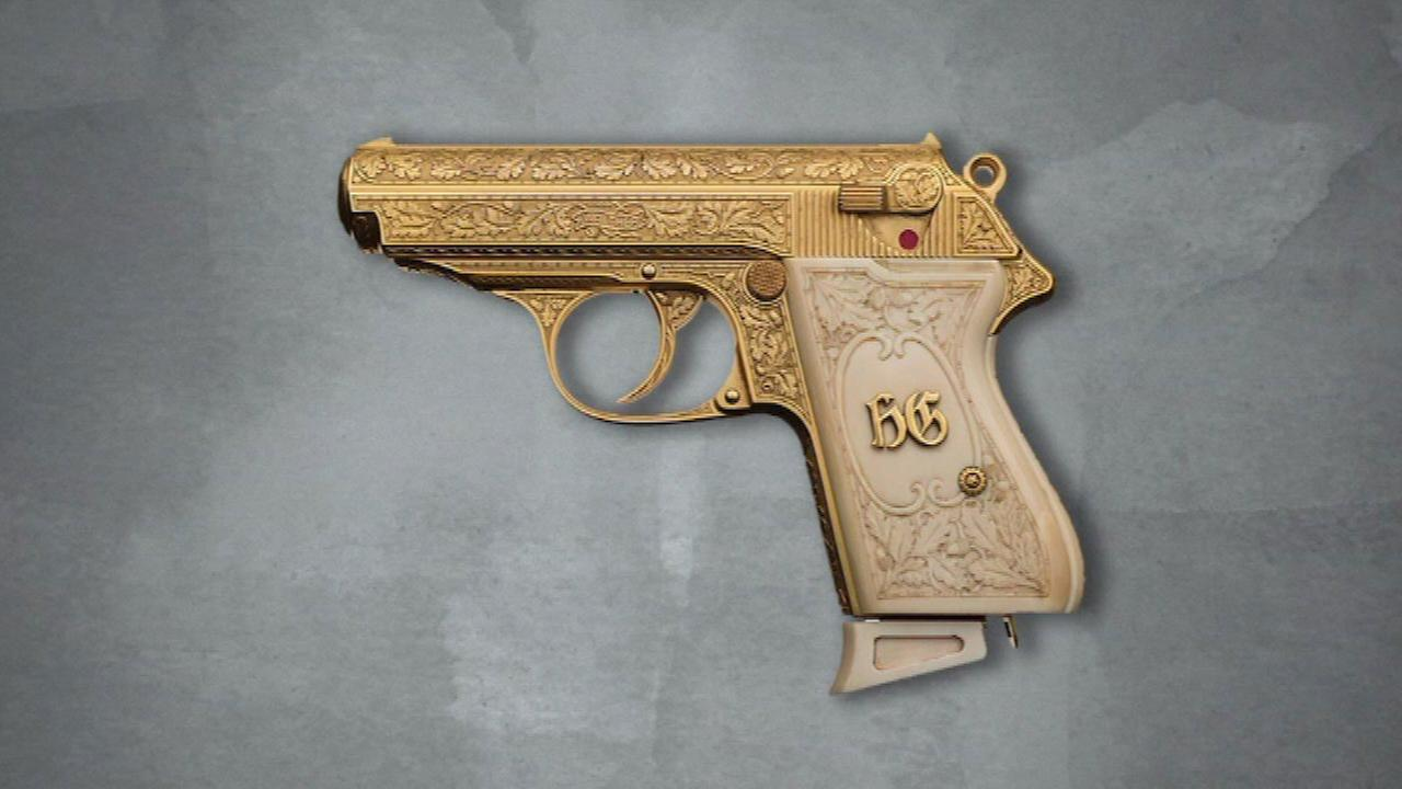 The gold-plated pistol belonging to Nazi leader Hermann Göring goes up for auction in September.