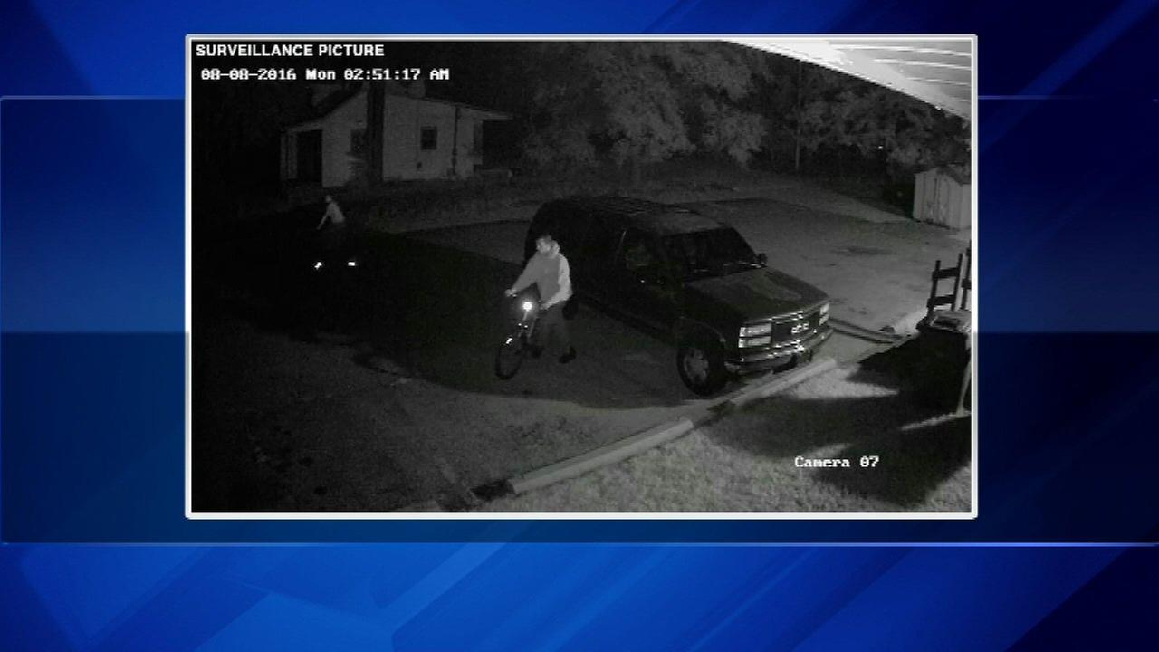 Surveillance pictures of the suspects in a string of crimes in La Porte County, Ind.