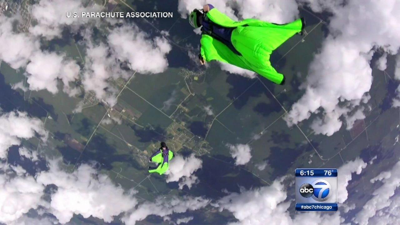 Wingsuit Competition underway in Rochelle