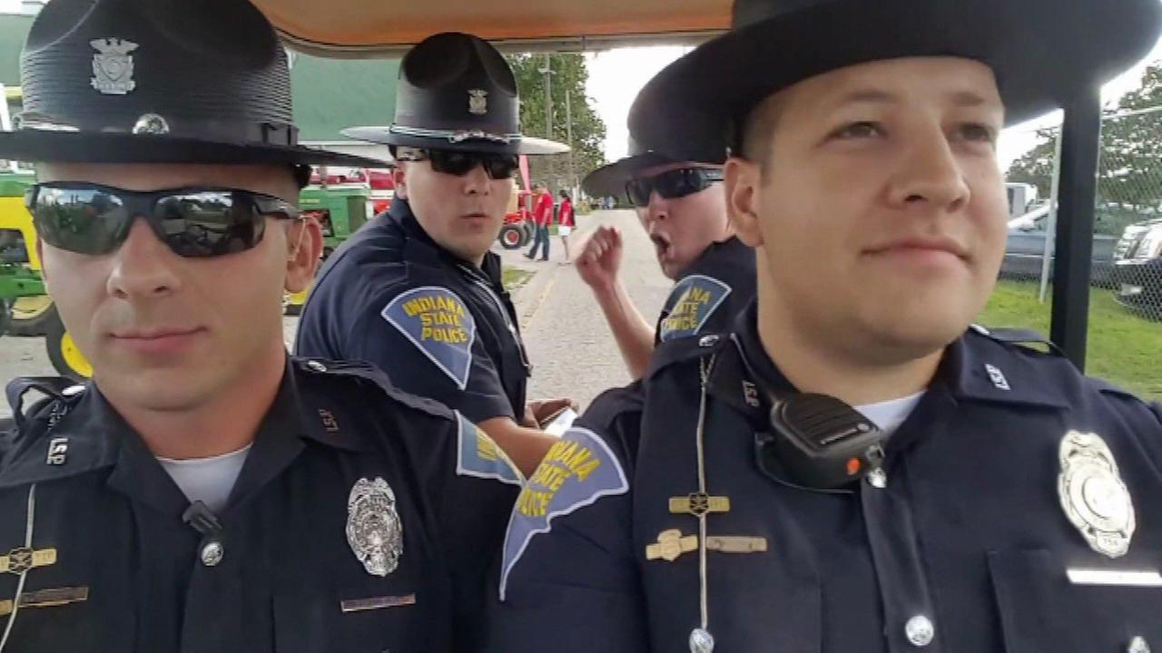 Four Indiana State Police troopers are bringing back some fun memories while they serve, protect... and sing!