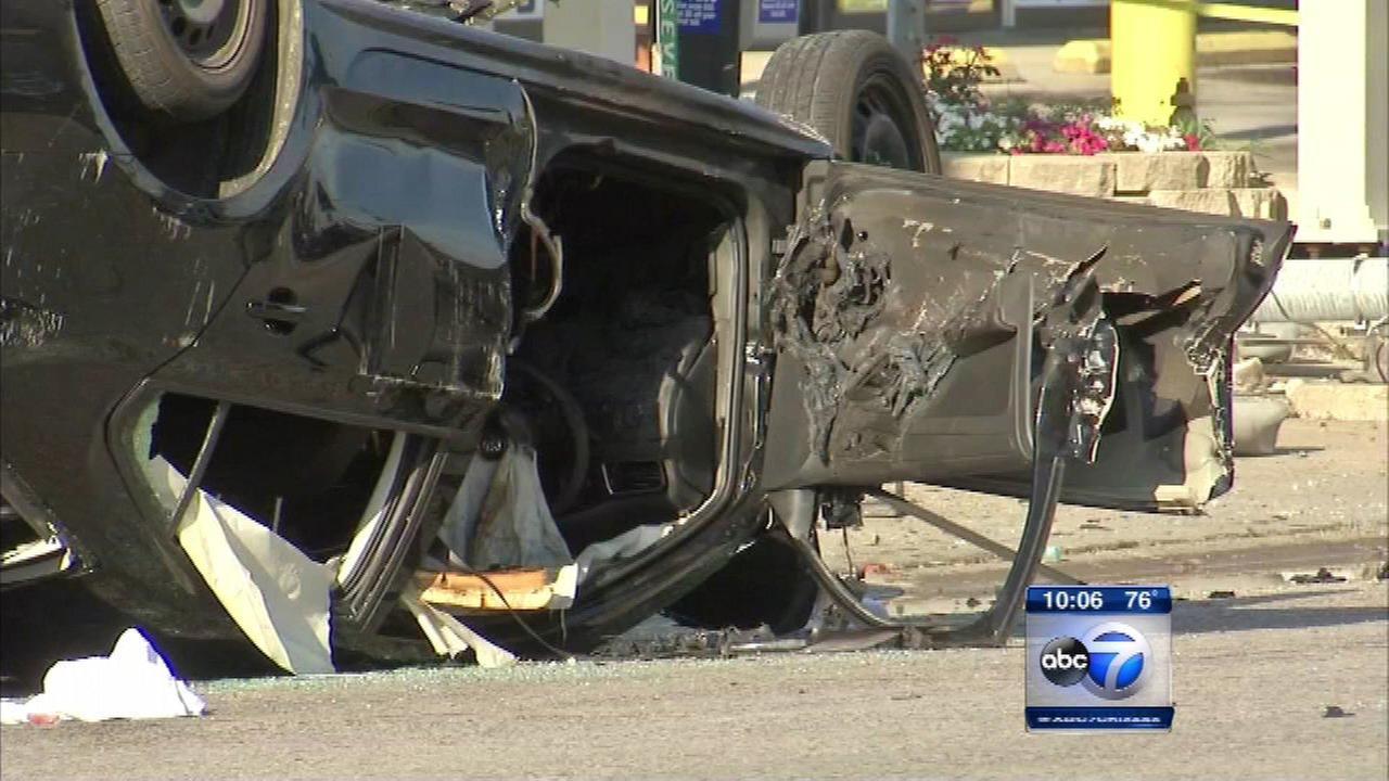 1 dead, 1 injured in fiery Maywood crash